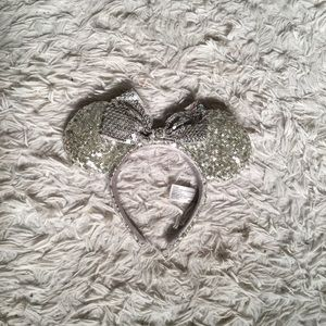 Disney Silver Sequin Minnie Mouse Ears